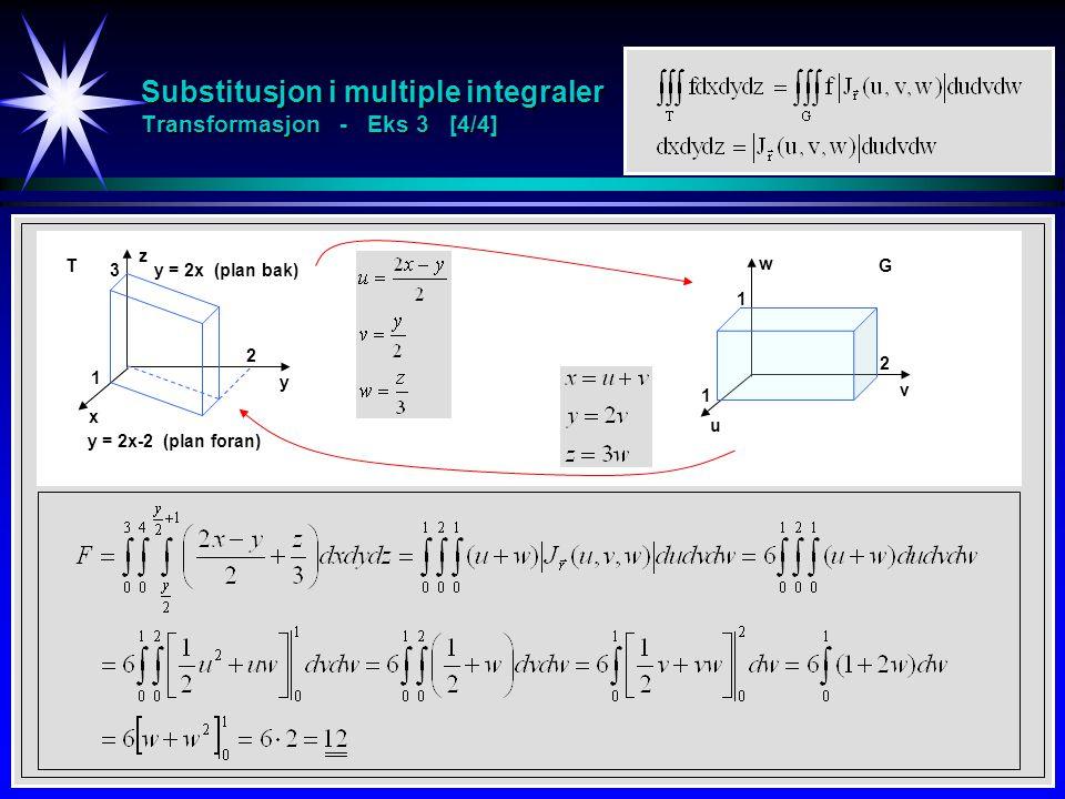 Substitusjon i multiple integraler Transformasjon - Eks 3 [4/4]
